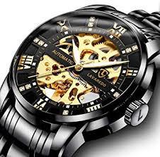 Men's Watch Luxury <b>Mechanical</b> Stainless Steel <b>Skeleton</b>