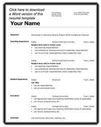Free Basic Resume Templates Microsoft Word  resume templates