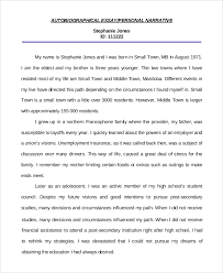 personal autobiographical essay example of personal essay