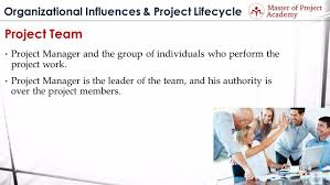 master of project academy project team definition of the for project team definition we can say that it s the project manager and the group of individuals who perform the project work in order to be considered