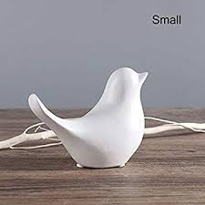 ZAMTAC Newly 2019 Ceramic <b>Bird</b> Abstract <b>Ornament</b> Matte Black ...