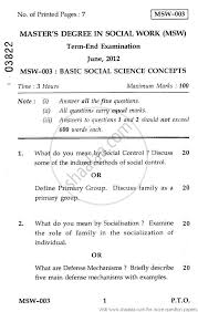 basic social science concepts 2012 social work masters basic social science concepts 2012 social work masters university exam indira