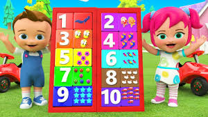 Numbers Board Game Toy 3D - Learning Colors & Numbers for ...