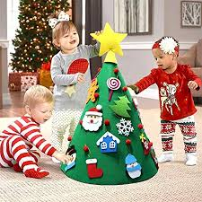 <b>OurWarm</b> 3D <b>DIY</b> Felt Christmas Tree Toddler Friendly Christmas ...