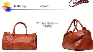 leather world duffle bag now available on your favorite website leather world duffle bag now available on your favorite website like amazaon flipkart snapdeal