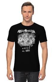 <b>Футболка классическая Printio Helloween</b> ( rock band ) #758503