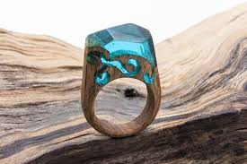 <b>Wood</b> resin <b>ring Eco</b> epoxy jewelry Green <b>Wood</b> rings the secret of ...