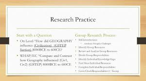 how to do research for world history gstep presentations on ch 14 research