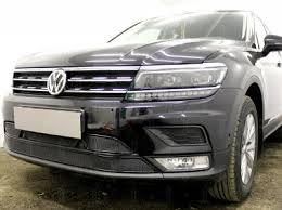 Volkswagen Tiguan (17–) Защита <b>радиатора Premium</b>, <b>чёрная</b> ...