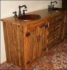 style bathroom vanity cabinet rustic