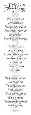 Big Brother Quotes on Pinterest   Brother Birthday Quotes, Little ... via Relatably.com