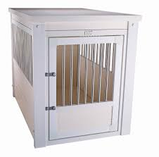 white wood furniture style dog crate end table furniture style dog crates