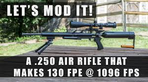 High Powered Air Rifle in .250 ( 130 FPE @ 1096 FPS ) Modded ...