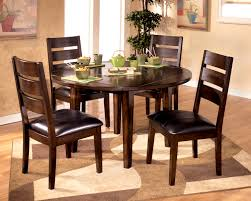 Retro Dining Room Sets Furnituresweet Brown Round Dining Room Table Set Circle Dinette