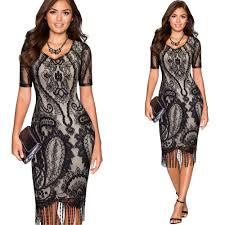 <b>Women</b> Summer <b>Vintage</b> 1920s <b>Flower Lace</b> Corchet Bodycon ...