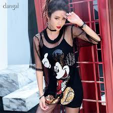 Dangal <b>Women Two piece Suits Mickey</b> Dress Sequin Mesh Dress ...
