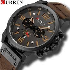 <b>CURREN Mens Watches</b> Top Luxury Brand Waterproof Sport <b>Wrist</b> ...