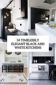 Black White Kitchen Designs Black And White Kitchen Design Archives Digsdigs
