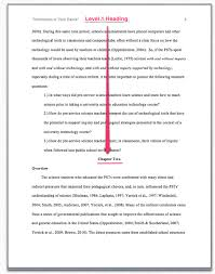Example of First Level of Headings in APA Style FAMU Online