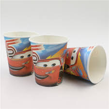 Disney Car Theme Birthday Party Paper Cups And Glasses ...