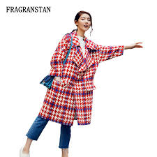 Women Autumn Winter <b>New Fashion</b> High Quality Woolen Coat Red ...