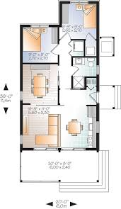 House plan W detail from DrummondHousePlans com st level Modern Rustic sq ft  tiny small house plan  very versatile