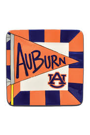 home decor plate x: orange and blue auburn plate measures x auburn flag plate by walkers home amp gifts home decor dining dinnerware alabama