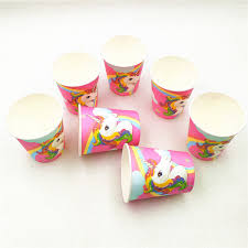 <b>10p</b>/<b>set Unicorn Birthday Party</b> DecorationPaper Cup Cartoon ...