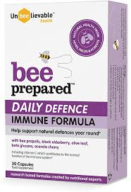 Unbeelievable Health <b>Bee Prepared</b> Daily Defence Immune Support ...