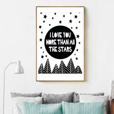 Art Home <b>Nordic</b> Love Words Proverbs Canvas <b>Wall Living Room</b> ...