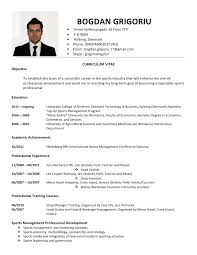 how to write resumes  curriculumvitae examples  sample resume    curriculumvitae examples