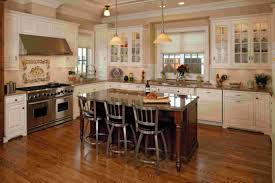 awesome white kitchen ideas with dark kitchen island with dining chairs also vintage pendant lamp and awesome kitchen cabinet