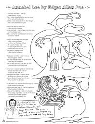 annabel lee essay questions essay topics annabel lee by edgar allan poe coloring page poems