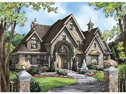 European House Plan Luxury House Plans  one and a half story house