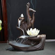 OUYEE Lotus Flower/Monk Backflow Incense Burner ... - Amazon.com
