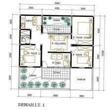 denah rumah 1 lantai 3 kamar: Denah rumah sederhana untuk 1 2 3 4 kamar tidur dan tipe 36 ndik