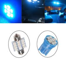 <b>13x Blue</b> LED Package Interior For Dome Map License <b>Lights</b> T10 ...