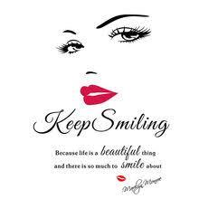 <b>Wall Decal</b> Art <b>Vinyl Beauty</b> Salon Promotion-Shop for Promotional ...