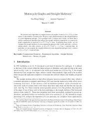 (PDF) <b>Motorcycle</b> Graphs and Straight <b>Skeletons</b>