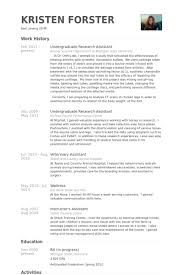 undergraduate research assistant resume samples research resume template