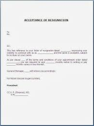accepting a resignation letter  acceptance of resignation letter    acceptance of resignation letter format