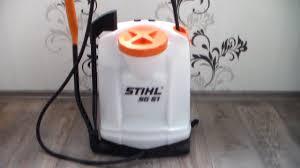 Stihl SG51, ручной ранцевый опрыскиватель. Обзор. - YouTube