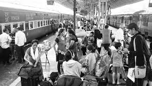 Image result for images of railway station with passenger train
