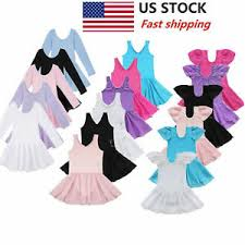 US Girls Gymnastics <b>Ballet</b> Dress Kids Leotard <b>Tutu Skirt Dance</b> ...