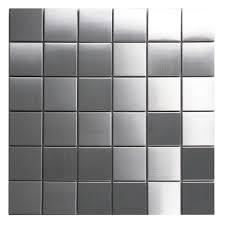 kitchen backsplash stainless steel tiles: hover show stainless steel mosaic tile x
