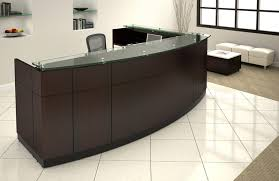 willow reception desk and return bow front reception counter office reception desk