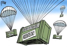 Image result for US Airdrops TO ISIS CARTOON
