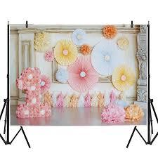 <b>Pink</b> Paper Petal Room Decoration Little Princess Girl's First ...