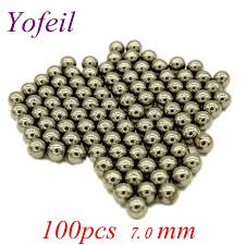 <b>100pcs</b>/<b>Lot</b> 7.0mm Steel Balls <b>Hunting Slingshot</b> Stainless Steel ...