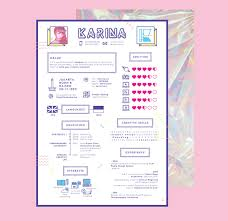 creative cv designs to inspire your job search in  this girly colourful cv from n designer claudia karina